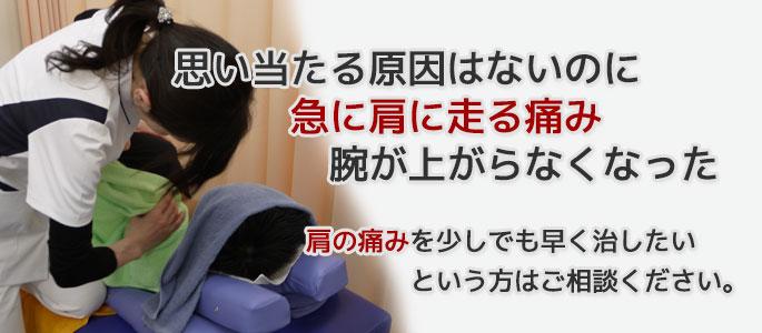 肩の痛み大田区蒲田たか整骨院