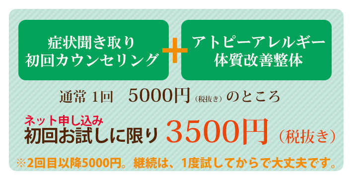 初回お試しに限り3500円